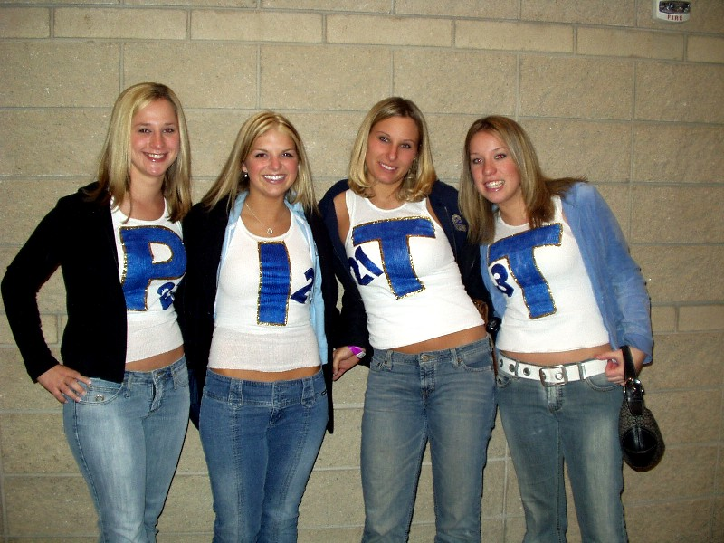 Kappa Kappa Gamma sister Jessica shows her Pitt spirit with her ...